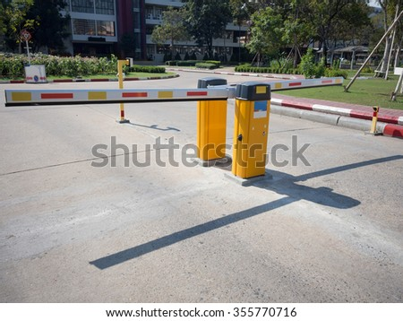 Gate Barrier in front of parking building