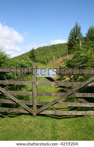 Gate Barring Access in Rural Area.