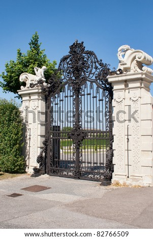 Gate of Belvedere Palace,vienna - stock photo