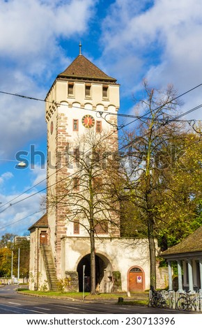Gate of Saint John in Basel, Switzerland - stock photo