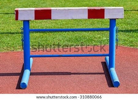 Gate of the hurdling race - stock photo