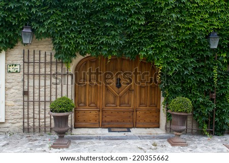 Gate to house at Gordes, Provence, France - stock photo