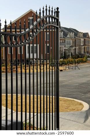 Gated Community - stock photo