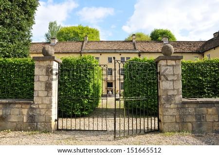 Gates of a Victorian Era English Manor House  - stock photo