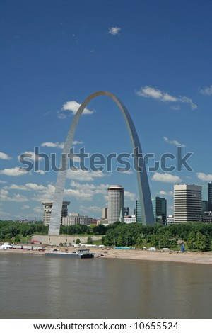 Gateway Arch in St Louis - stock photo