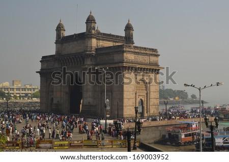 Gateway of India in Mumbai - stock photo
