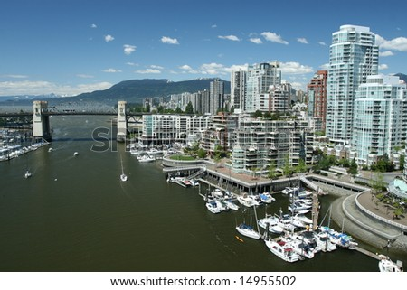 Gateway to Vancouver - stock photo