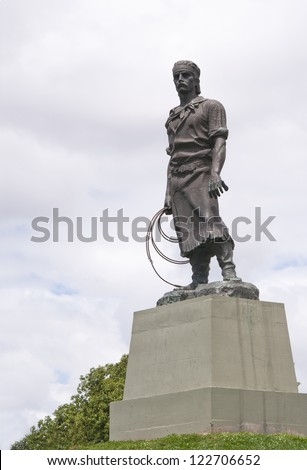 Gaucho statue - Porto Alegre - RS - Brazil - stock photo