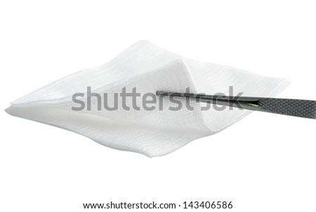 Gauze swab - stock photo