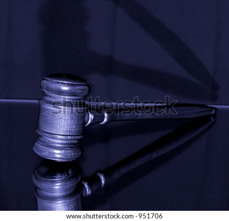 gavel in blue