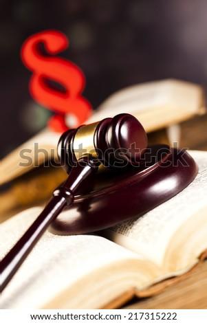 Gavel,Law theme, mallet of judge - stock photo