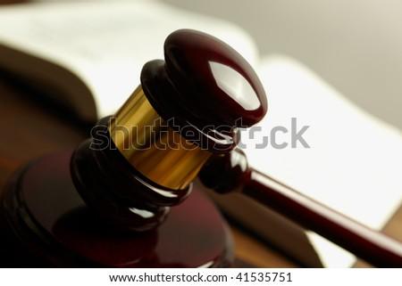 gavel ( selective focus) - stock photo