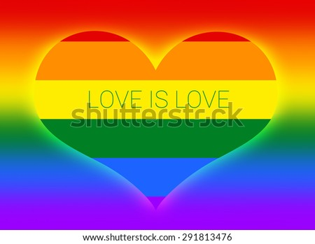 Gay and LGBT flag. Gay culture symbol. Handmade. Raster. love is love.  - stock photo