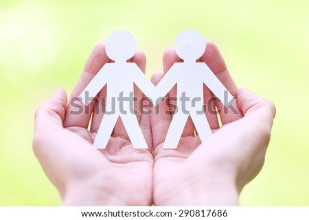 gay friendly sign - stock photo