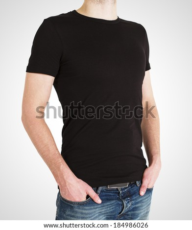 gay in t-shirt on a white background - stock photo
