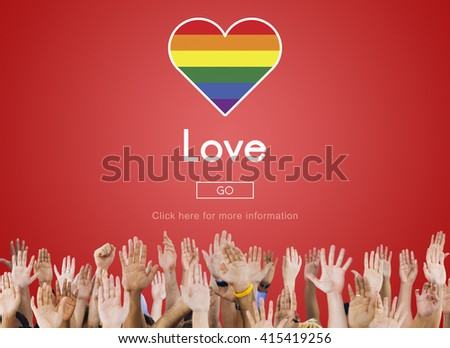 Gay LGBT Equal Rights Homosexuality Concept - stock photo