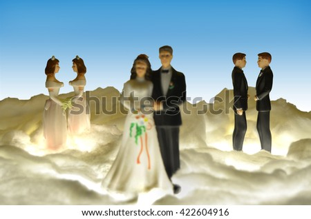 Gay marriage. - stock photo