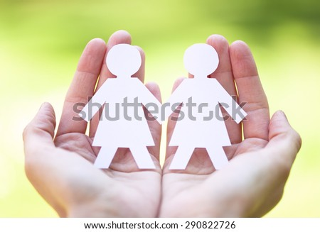 gay pride and love concept - close up of happy lesbian couple  - stock photo