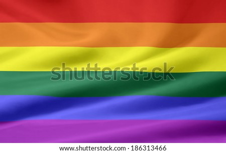 Gay Pride Flag - stock photo