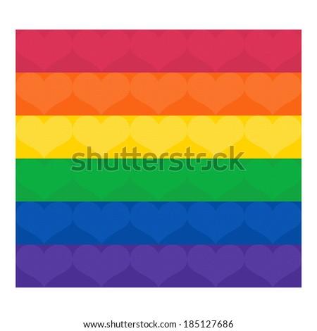 Gay Pride Flag; Rainbow flag; GLBT symbol - stock photo