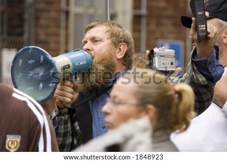 Gay Rights Protest, Philadelphia, Pennsylvania - stock photo