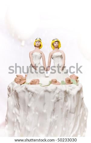 Gay/same sex marriage concept. - stock photo