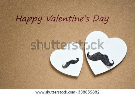 Gay Valentine's Day card for gentlemen - stock photo