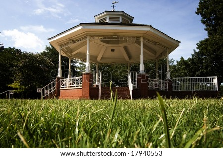 Gazebo in Haggard Park, Downtown Plano, TX - stock photo