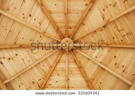 Gazebo wooden ceiling - stock photo