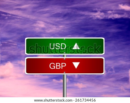 GBP USD british pound sterling US dollar symbol currency money. - stock photo