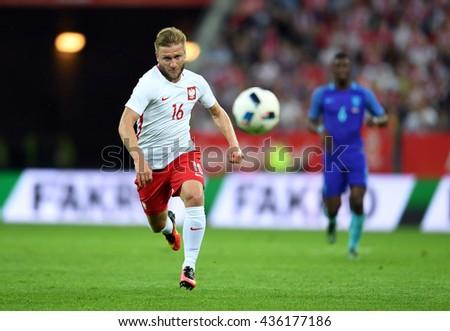 GDANSK, POLAND - JUNE 01, 2015: EURO 2016 European International Friendly Game Poland - Netherland o/p Jakub Blaszczykowski  - stock photo