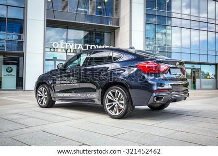 GDANSK, POLAND   SEPTEMBER 3 , 2015: New Model BMW X6 In Dark Blue