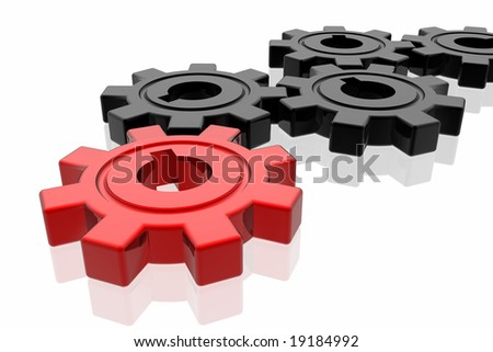 Gear business work concept - stock photo