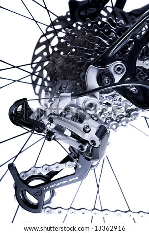 Gear Changing Mechanism on Rear Wheel - stock photo