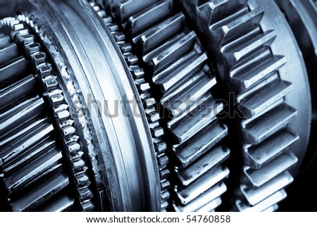 gear in car transmission - stock photo