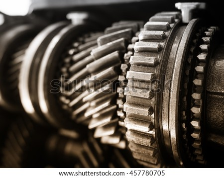 Gear Motor Machine Parts Car Engineering Stock Photo