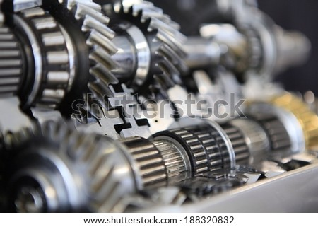 gear of car parts - stock photo