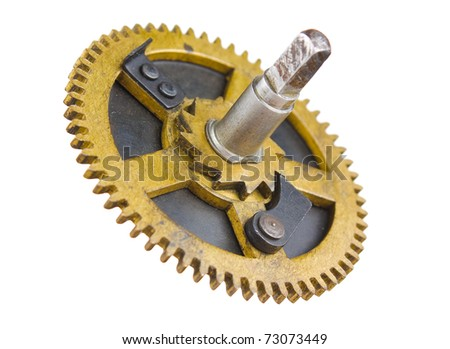 Gear of the clock isolated on white background