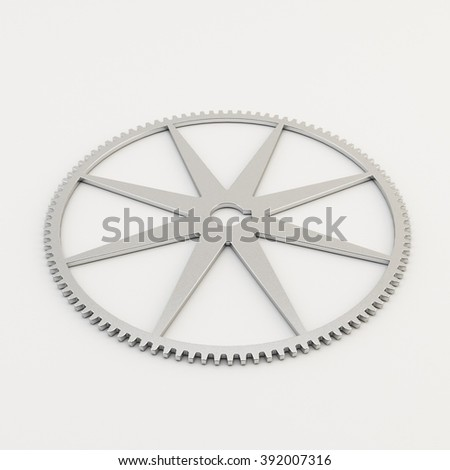 Gear on white background