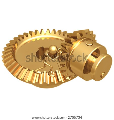 Gear Pusher - stock photo