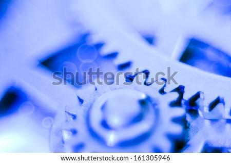 gear soft blue - stock photo