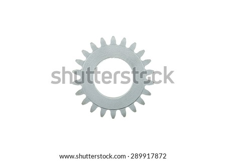 Gear Wheel on a white background - stock photo