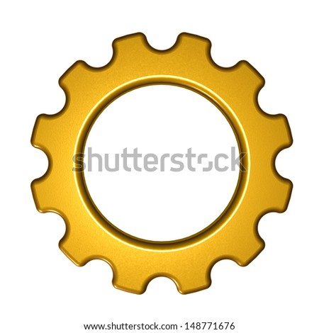 gear wheel on white background - 3d illustration