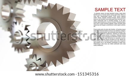 gears abstract background , machine gear on a white background - stock photo