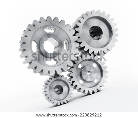 Gears attached to each other.
