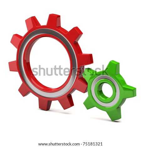 Gears icon - stock photo