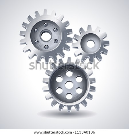 Gears icon - raster version - stock photo