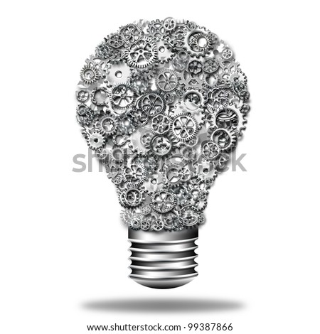 Gears in The Bulb - stock photo