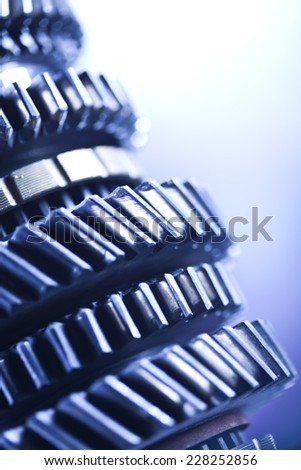 Gears, industrial mechanism   - stock photo