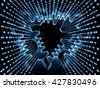 Gears of Code series. Interplay of digits and fractal gears on the subject of math, science and education - stock photo